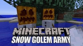 Minecraft Xbox Snow Golem Army Attack (How To Make A Snow