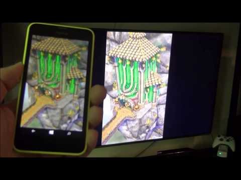 Miracast and Windows Phone 8.1 demonstration