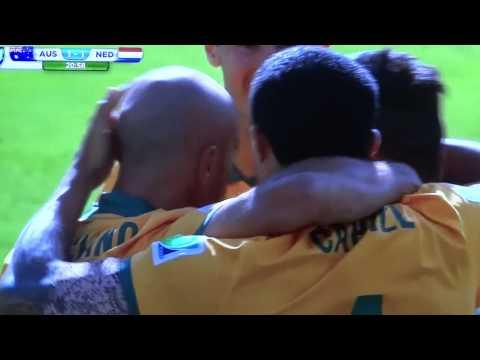 Golazo de Tim Cahill minuto 21 contra Holanda Copa del Mundo