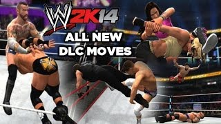 WWE 2K14 All New DLC Moves (SUPERSTARS AND MOVES PACK