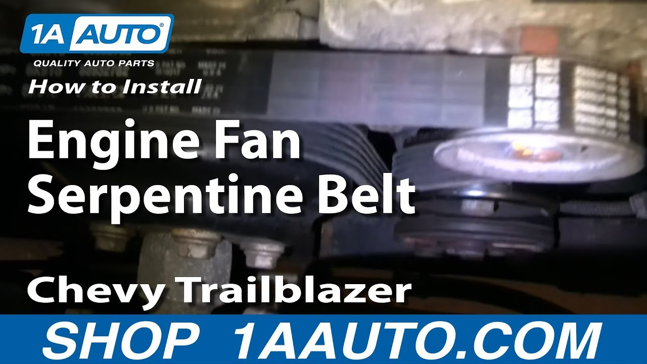 How To Install Replace Engine Fan Serpentine Belt Chevy Trailblazer Gmc Envoy 4 2l 1aauto Com