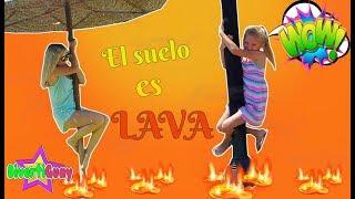 EL SUELO ES LAVA CHALLENGE   THE FLOOR IS LAVA!!!