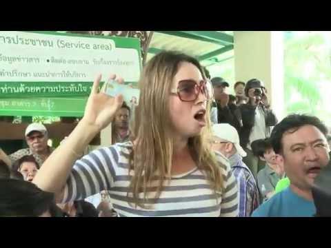 กำนันสุเทพ Thailand Protests  Anti government protesters disrupt polling