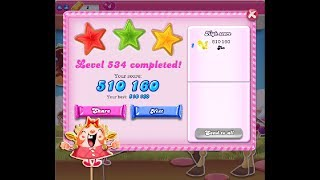 Candy Crush Saga Level 534 ★★★ NO BOOSTER