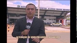 Altera��o de voos e problemas de estacionamento prejudicam passageiros no Aeroporto de Montes Claros