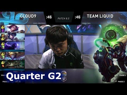 Team Liquid vs Cloud 9 | Game 2 Quarter Finals S8 NA LCS Spring 2018 | TL vs C9 G2