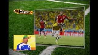 O atacante Neymar caiu durante a comemoração do gol do Thiago Silva contra a Colômbia. Os colombianos estão postando na página do colombiano Zuñiga que a fratura de Neymar foi devido a queda desta comemoração e não a joelhada do jogador colombiano. veja a opinião da bancada e o que os colombianos estão falando sobre isso:
