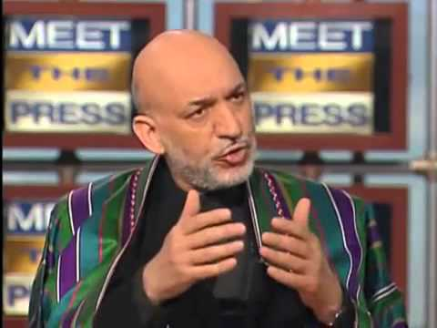 World President Hamid Karzai on Meet the Press2628