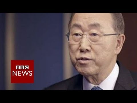 """I believe that he knows... there is no military option."" Ban Ki-Moon on Syria - BBC News"