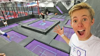SURPRISING A FAN WITH TRAMPOLINES!