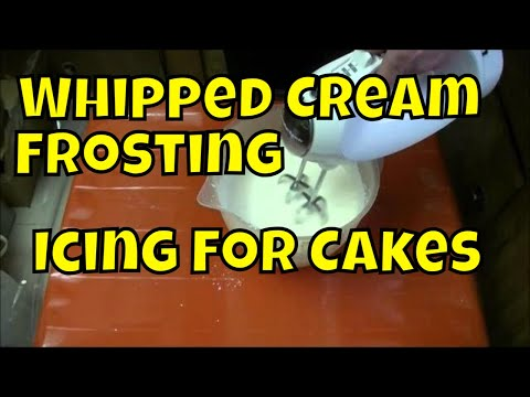 Chox Decorates Cakes 18: How to Make Whipped Cream Icing Real Time