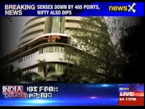 Sensex down by 405 points, NIFTY also dips
