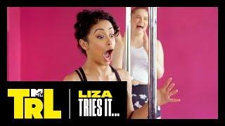 Liza Koshy Tries Pole Dancing   TRL Weekdays at 4pm