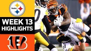 Steelers vs. Bengals | NFL Week 13 Game Highlights