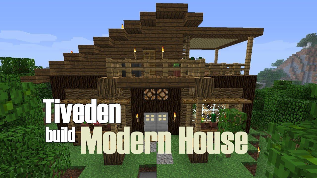 Minecraft Build Modern House Tiveden YouTube