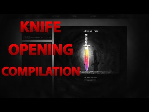 CSGO : Knife Unboxing/Opening Reactions Compilation #2