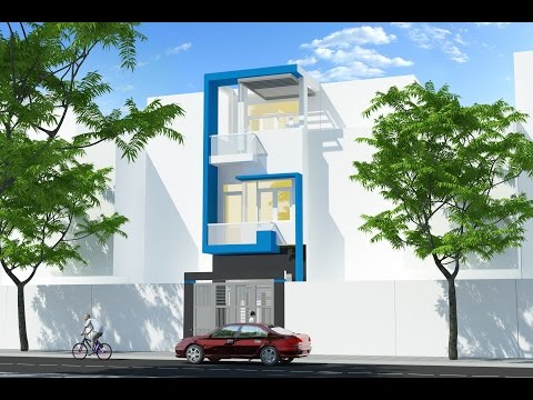 Dạy học 3d sketchup 35 tại tphcm Vẽ phối cảnh nhà phố learning study 3d draw a perpective of a house