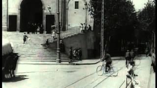 Barcelona en tranvía el 1908 Filmoteca Espanyola