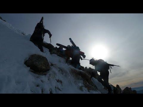 Ascensión y descenso con esquís de la Pousterle