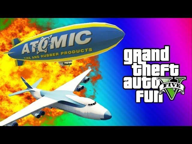 Tank teleport glitch cargo plane blimp fun gta 5 funny moments