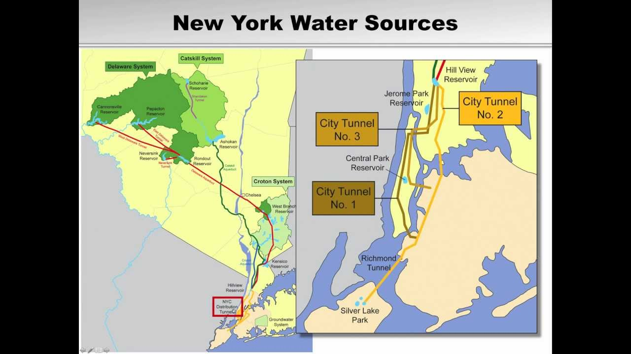 New York City Water Supply Map The Earth39s Crust Is Made Up Animated For Litigation