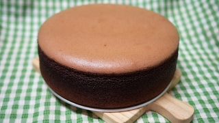 簡單 做 可可 巧克力 棉花 蛋糕 easy to make cocoa cotton cake 含 脫模 使用 燙麵 水浴 法 soft chocolate chiffon cake 烘王A+ 烤箱