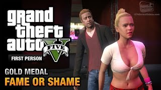 GTA 5 Mission #22 Fame Or Shame [First Person Gold