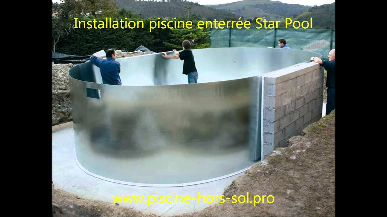Montage piscine enterr e star pool gre youtube for Installation piscine hors sol