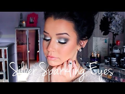 ♡Silver Sparkling Eyes: Makeup Tutorial♡,