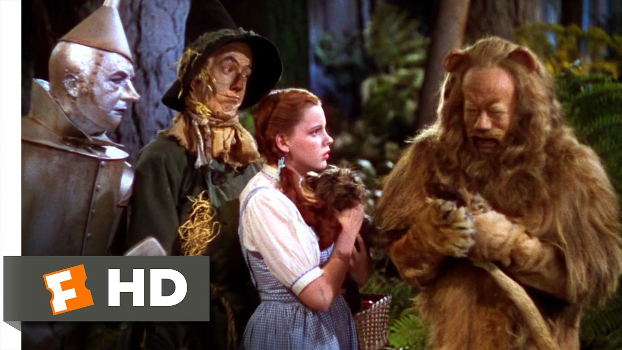 The cowardly lion the wizard of oz 6 8 movie clip 1939 hd youtube - The wizard of oz hd ...