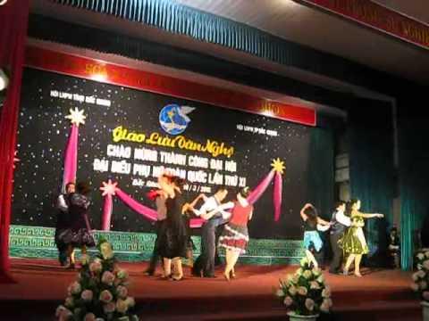 Khieu vu Bac Giang-Giao luu CM Dai hoi PN-Bebop(1)-CLB NCT 14-3-12