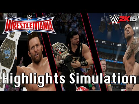 WWE Wrestlemania 32 Highlights re-creation | WWE 2K16 PS4 Simulation