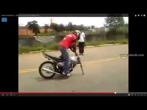 caido de motos video engrasados