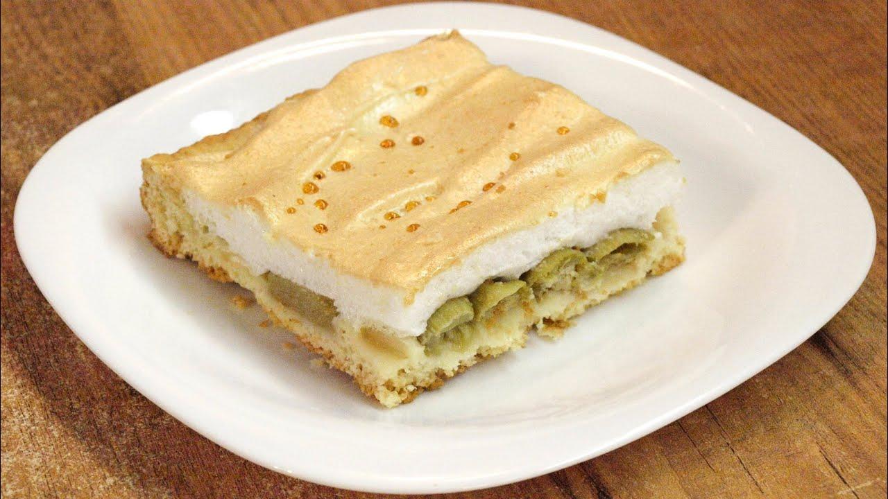 Пирог с ревенем с безе рецепт