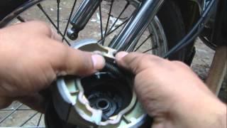 Como cambiar las zapatas freno delantero - Moto