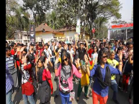 ICC World Twenty20 Bangladesh 2014 Flash Mob - Agricultural University Sylhet