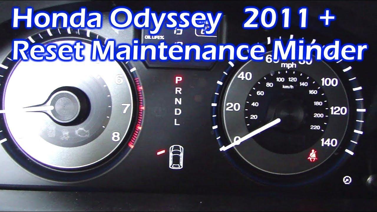 Honda Odyssey Reset Maintenance Minder 2011 And Newer