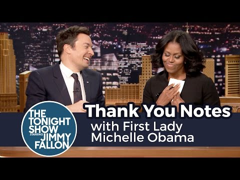 Thank You Notes with First Lady Michelle Obama