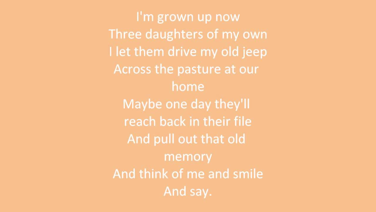 the older i get lyrics alan jackson