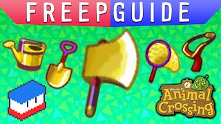 Freepguide: Gold Tools In Animal Crossing New Leaf!