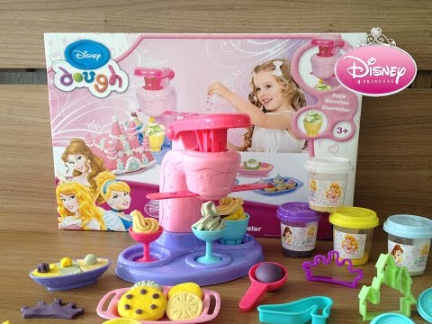 Disney Dough Máquina de Sorvetes de Massinha Princesas Disney Play-Doh