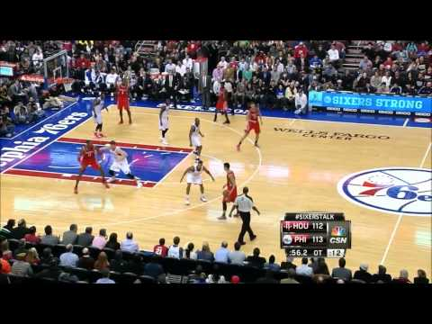 Dwight Howard's struggles vs Spencer Hawes & the Sixers - 2011.11.13