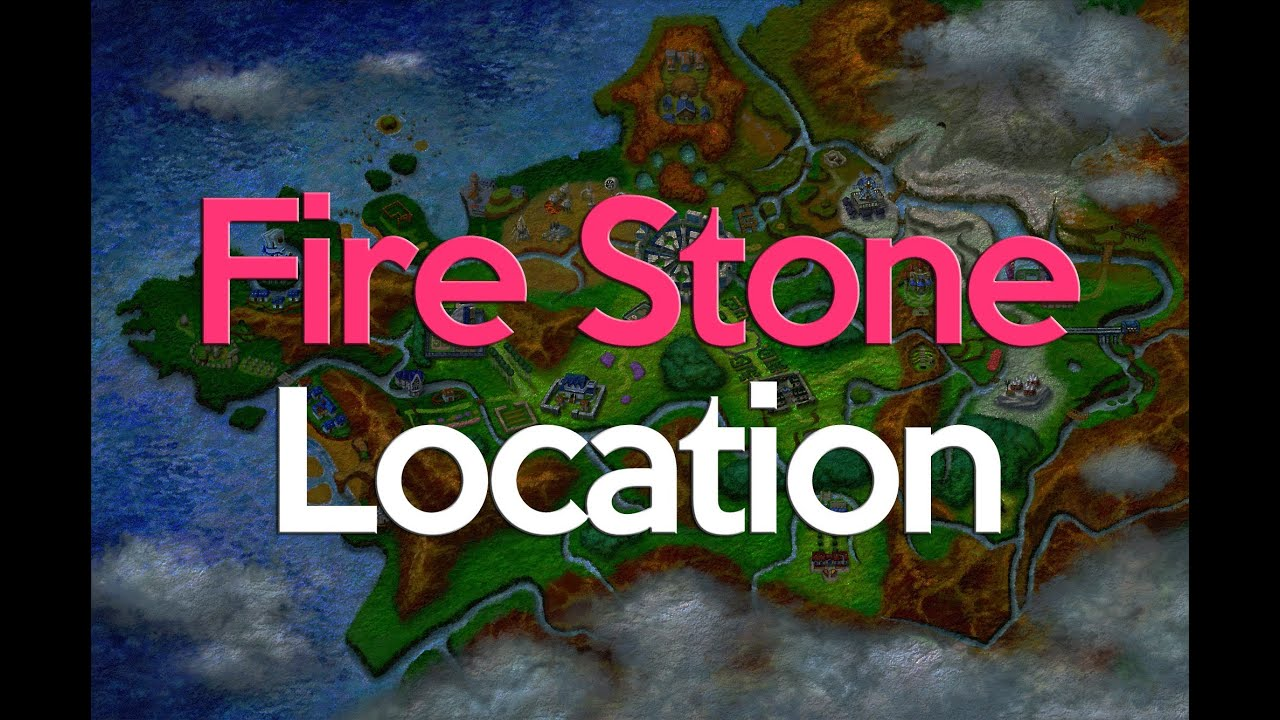 Pokemon X and Y Fire Stone Location - YouTube