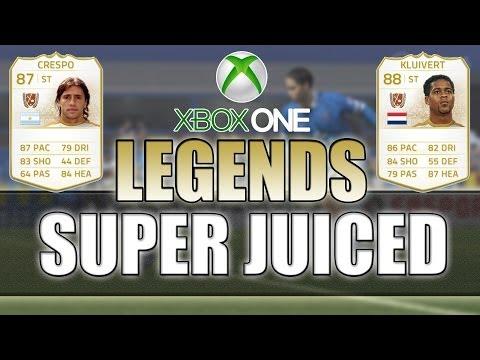 SUPER JUICED LEGENDS! - Hernan Crespo & Patrick Kluivert! - FIFA 14 Xbox One