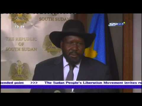 South Sudanese President Salva Kiir speaks about Mashar coup attempts