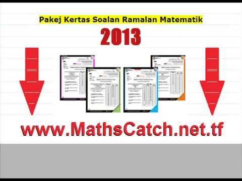 Kertas Soalan Ramalan Matematik SPM 2013 - YouTube