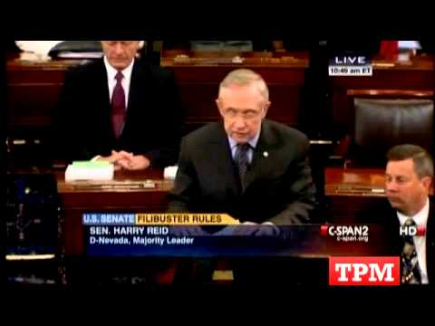 Harry Reid Pushes Major Senate Filibuster Rules Change