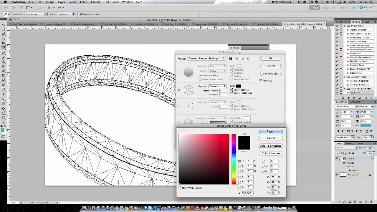 3D Animation And Wireframes