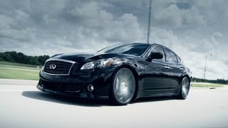 "Infiniti M37 on 22"" Vossen VVS-CV3 Concave Wheels / Rims"