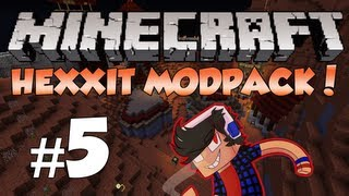 Minecraft: Hexxit! Episode 5 - Super Accurate Skeletons Suck